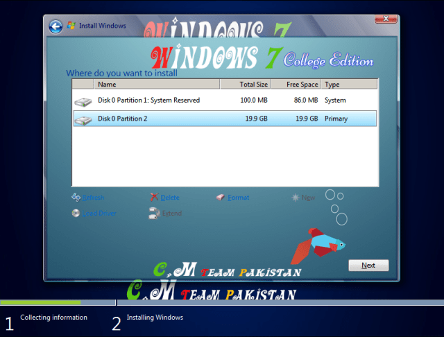 Windows 7 College Edition Lite Drive Setup 64 Bit By C.M Team