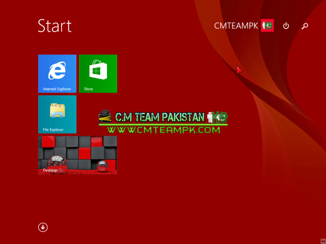 Windows 8 Red Edition Lite 2017 Logscreen By CMTEAMPK