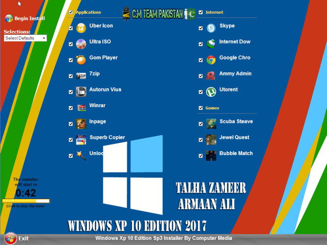 Windows Xp 10 Edition Sp3 2017 Software WPI Screen By Computer Media