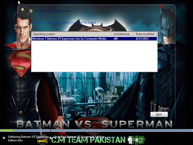Windows 7 Batman Vs Superman Lite Version Setup Screen By Computer Media Team (3)