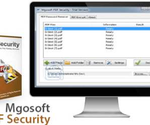 Mgosoft PDF Security 9.5.12 + Keys Is Here ! [Latest]