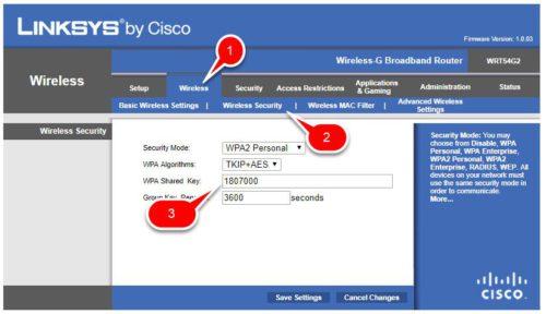Nous regardons et changez le mot de passe sur le routeur Linksys Cisco