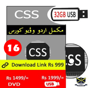 css Video course in Urdu in Pakistan learn at Home