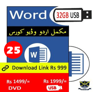 Learn Word Video course in Urdu in Pakistan