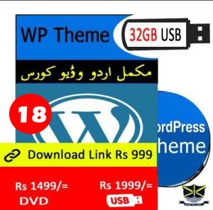 WordPress theme Video course in Urdu in Pakistan