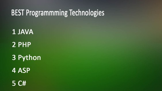 best programming technologies in world