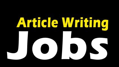 Article writing jobs