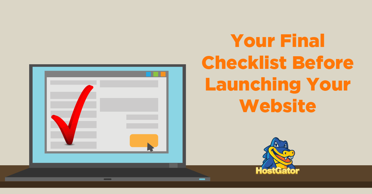 Your Final Checklist Before Launching Your Website