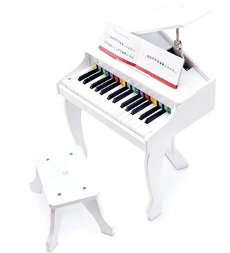 Hape Deluxe White Grand Piano