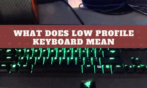 What Does Low Profile Keyboard Mean