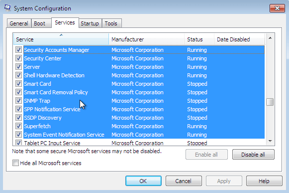 Start/Stop Software Protection service in Windows 7 from Services. Regedit or CMD