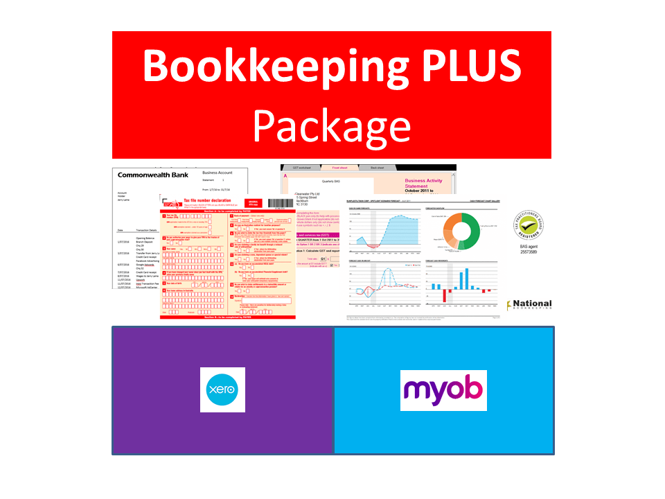 MYOB & Xero Bookkeeping PLUS ($25 per week)