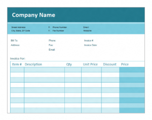 Create a simple tax invoice using Microsoft Excel Online Training Courses for $25 per week