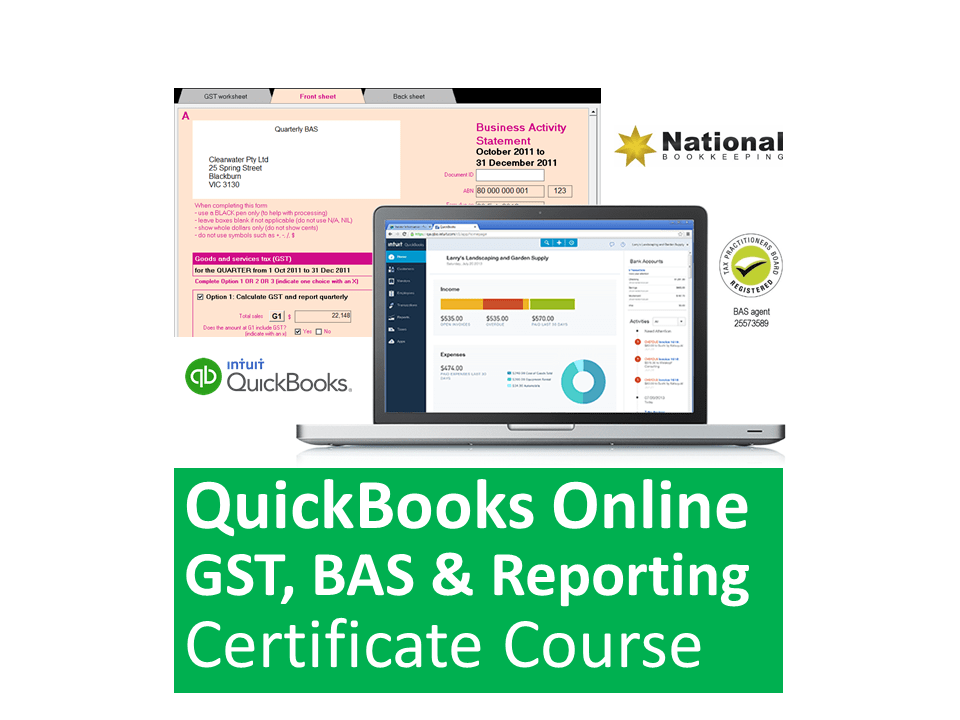 Intuit QuickBooks Online GST, BAS & Reporting Training Courses
