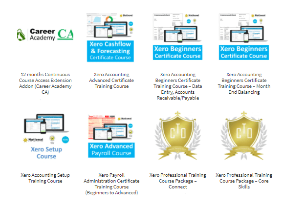 Xero Beginners Certificate to Advanced Certificate online training short courses - TAFE Courses non0accredited equivalent - CTO