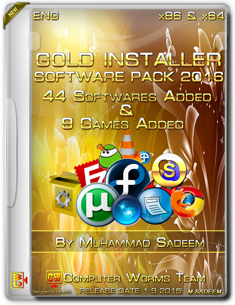 Gold Software Installer 2016 Free Download [Software Pack 2016]