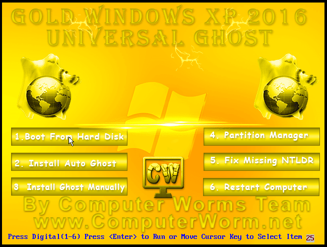 Gold XP 2016 Universal Ghost Bootable ISO Free Download