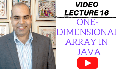 Single dimensional array in Java: Video Lecture 16
