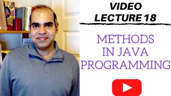 Methods in Java programming language