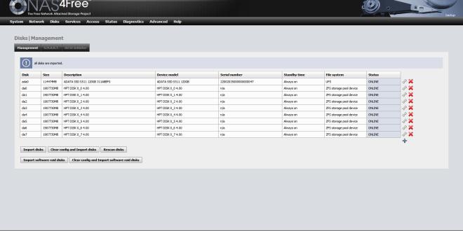 HighPoint RocketRAID 2720GSL & NAS4Free - Computing on Demand