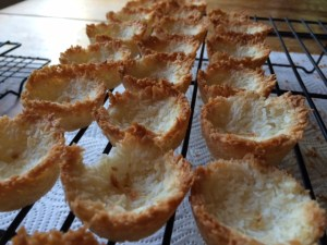 gluten-free coconut macaroon shells