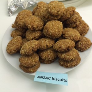 A pile of ANZAC biscuits. Eat your heart out, Aussies and Kiwis!
