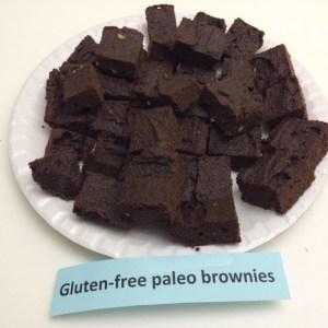Gluten-free, paleo brownies