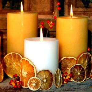 velas frutas secas