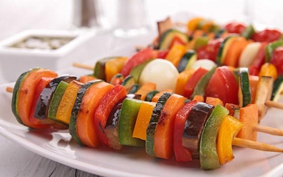 espetinho de legumes