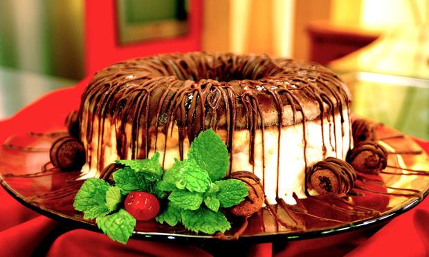 torta de sorvete trufado