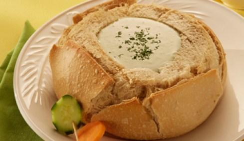 pão italiano com gorgonzola