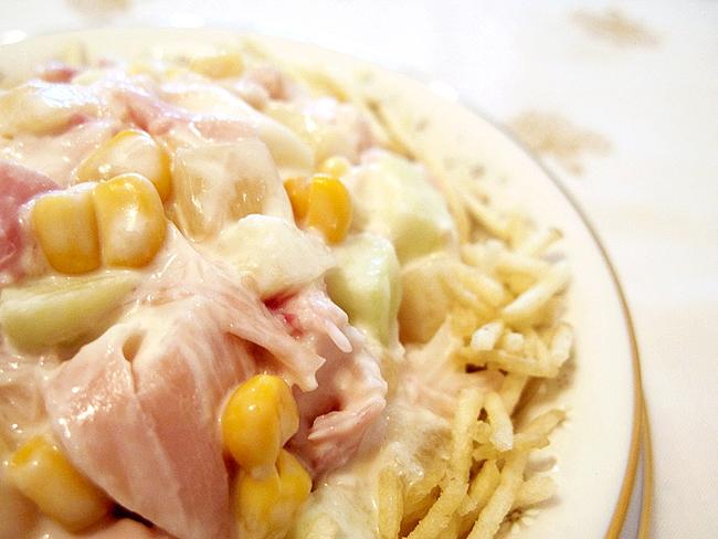 salpicão de frango defumado