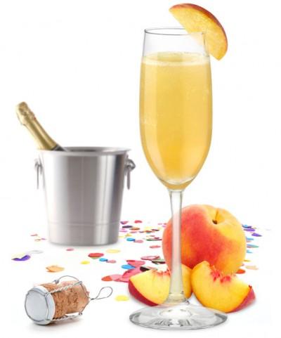 Champagne com Creme de Pessego