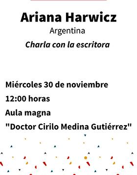 Charla con la escritora Ariana Harwicz (Argentina