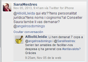 Tuit Sara Mestres antiavalots