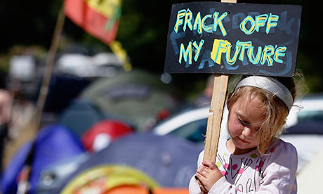 young fracking protestor