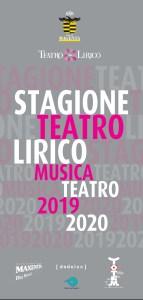 STAGIONI 2020 AL TEATRO LIRICO: IL CALENDARIO COMPLETO