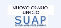 Ufficio SUAP – Nuovo orario