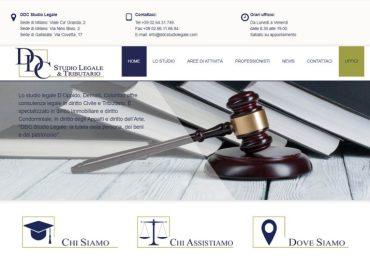 Sito internet per DDC Studio Legale