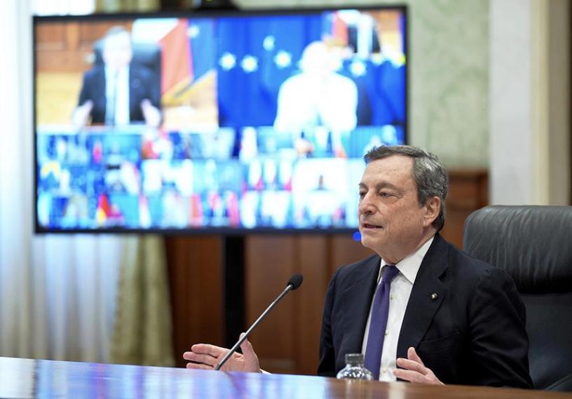 presidente Draghi Consiglio Europeo marzo 2021