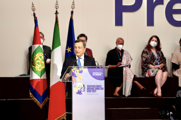 presidente-Draghi-Youth4Climate-Driving-Ambition
