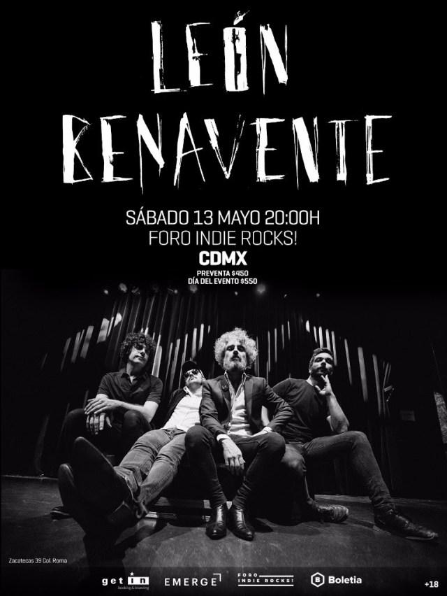Conciertos de León Benavente en México