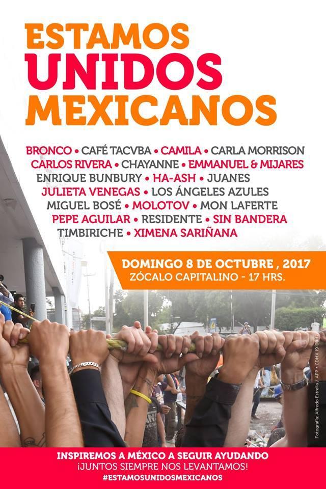 «ESTAMOS UNIDOS MEXICANOS» concierto solidario por MÉXICO