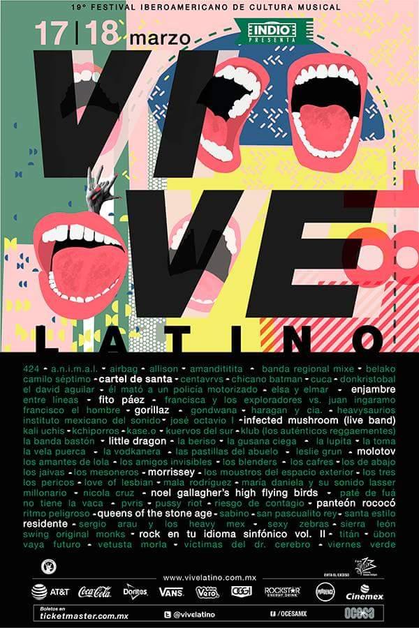 Ya está todo listo para la 19a Edición del Festival Vive Latino