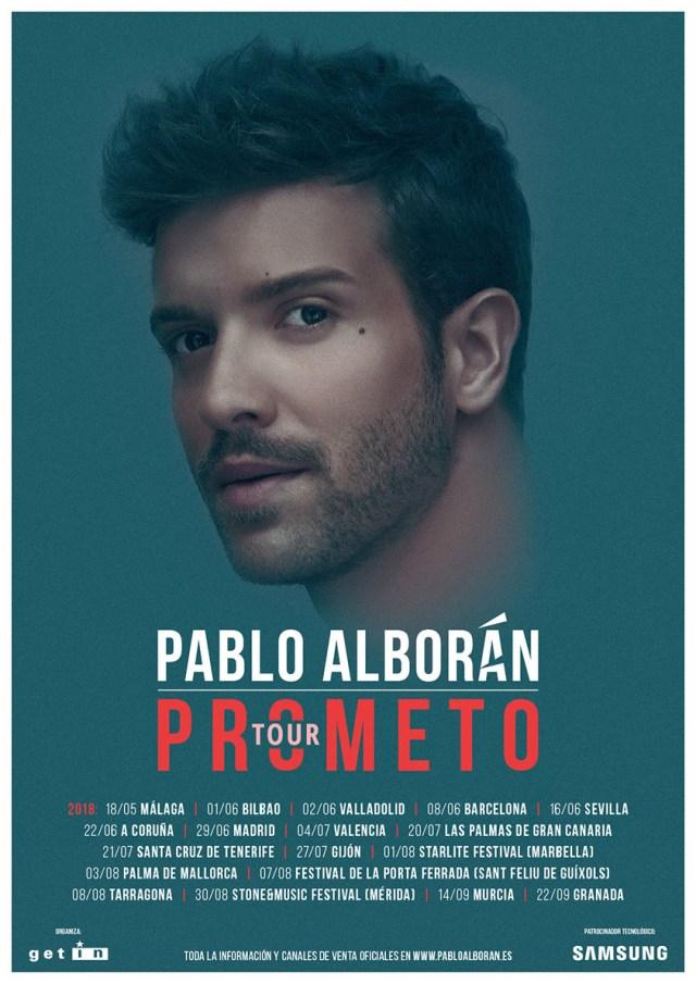 Pablo Alborán regresa a los escenarios con el 'Tour Prometo 2018'