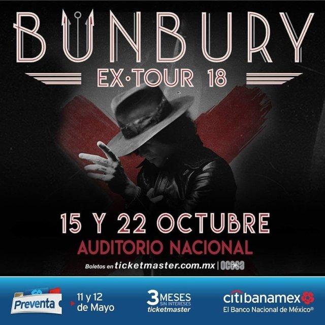 En octubre Bunbury regresa a la Ciudad de México