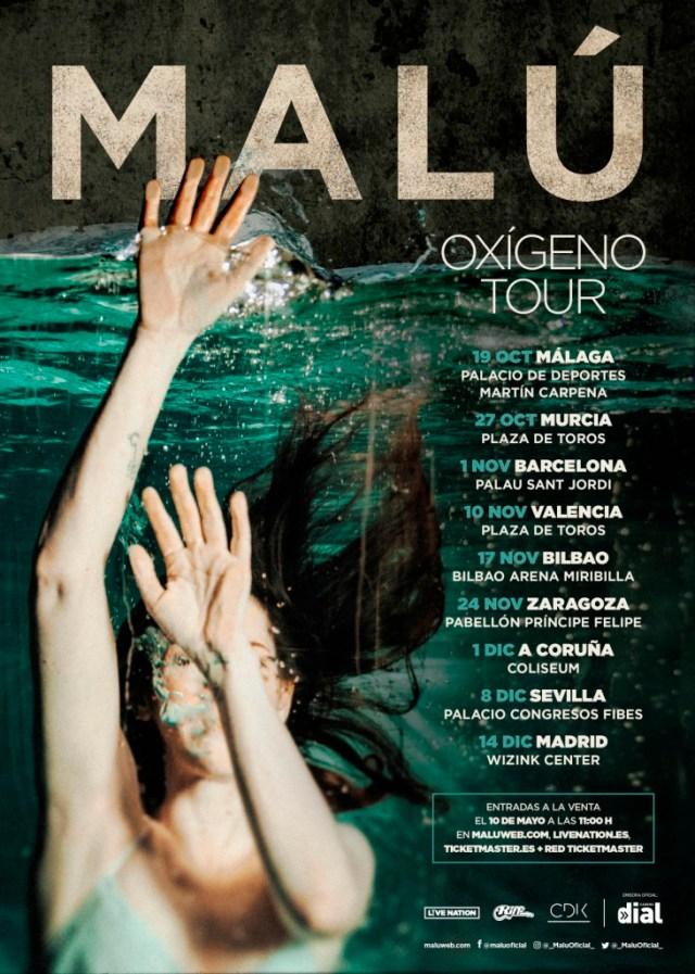 Malú confirma «Oxígeno Tour»
