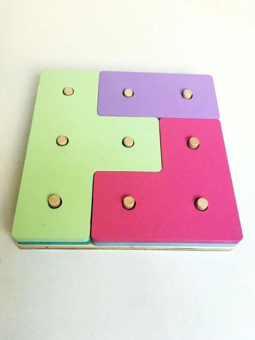 tetris de juguete para chicos en madera