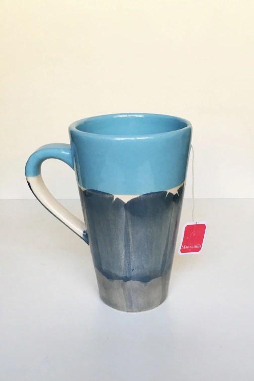 taza hendija ideal para el té color celeste 400 cc