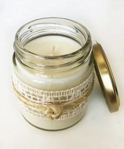 vela de soja aromática en frasco de vidrio reutilizable varios aromas